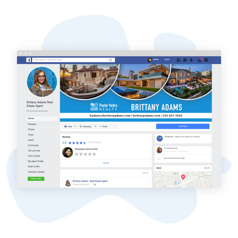 Home ASAP transforming an agent's facebook business page