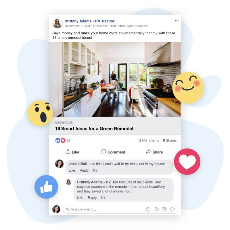 Facebook Post Receiving Customer Engagement