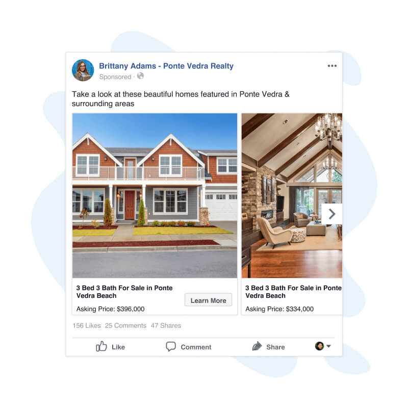 Facebook Advertising - Dynamic Listing Ad