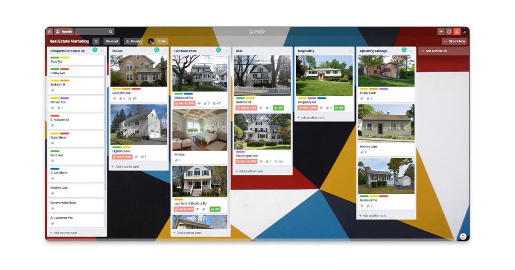 Trello can help part-time real estate agents organize