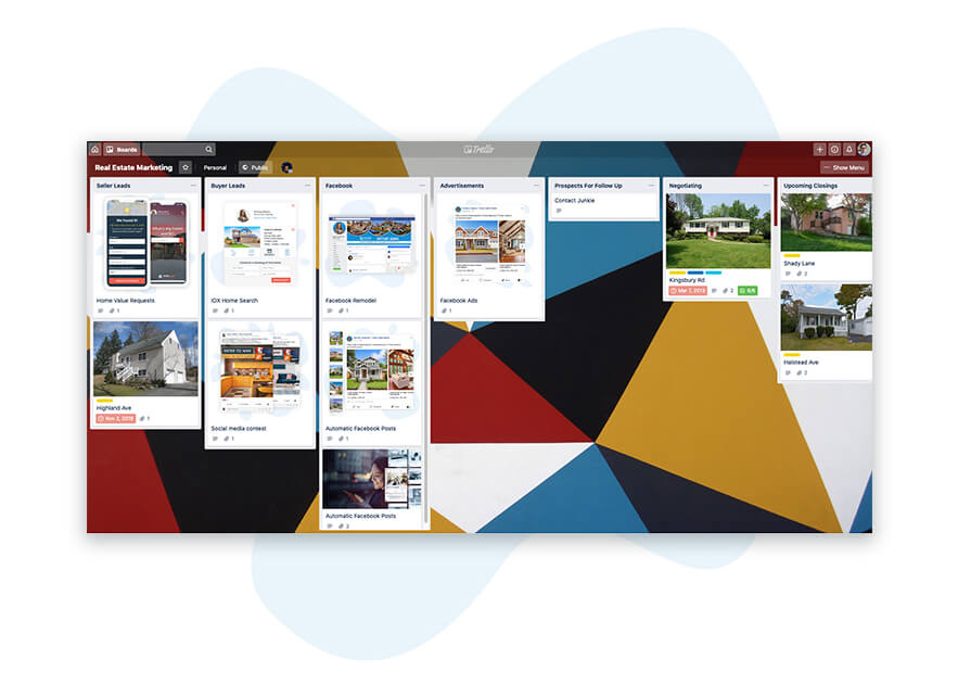 Trello Board for Real Estate Agents