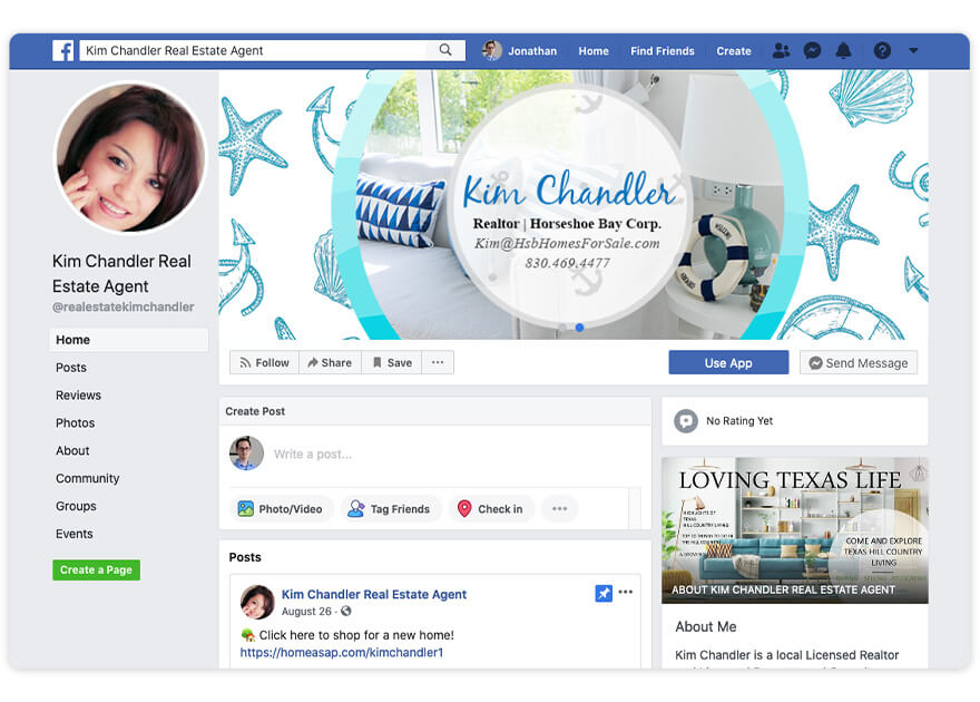 Kim Chandler Top Real Estate Agent Facebook Page Nomination