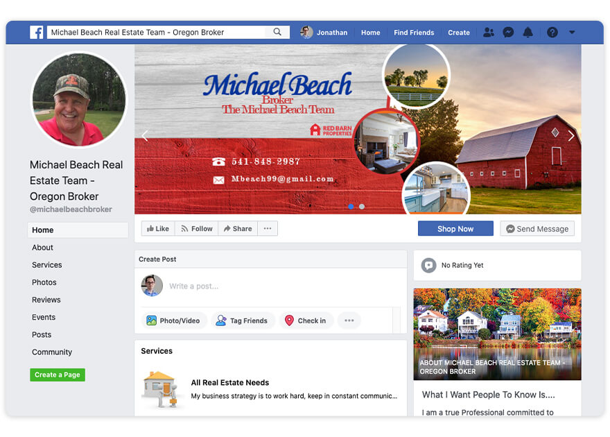 Mike Beach Top Real Estate Agent Facebook Page Nomination