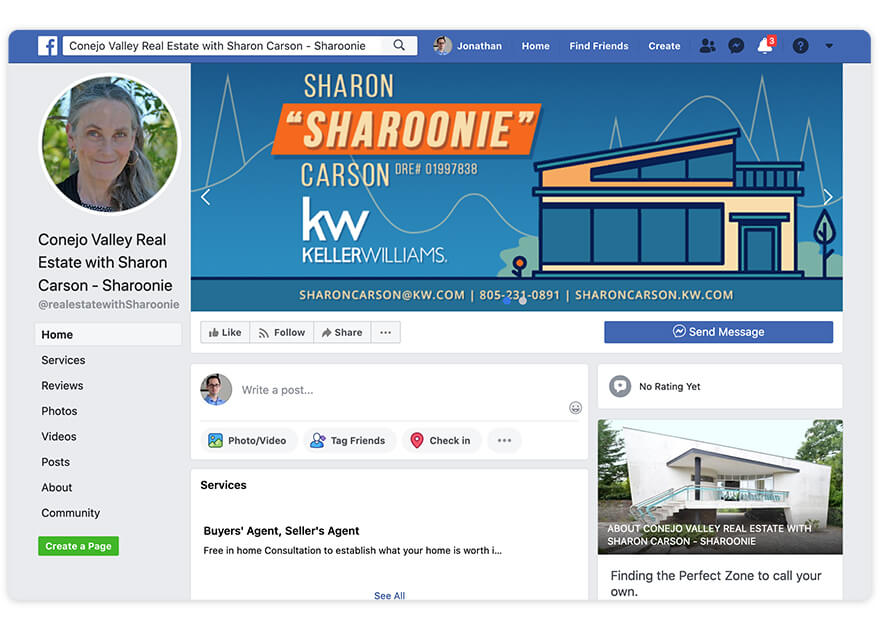 Sharon Carson Top Real Estate Agent Facebook Page Nomination