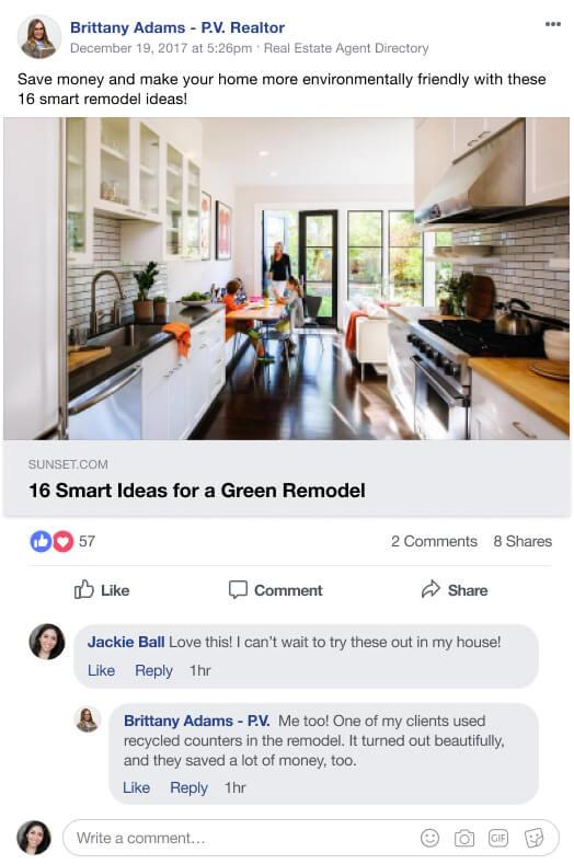 Facebook Follow-up Conversation