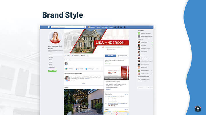 Example real estate agent Facebook page
