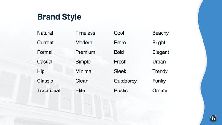 Brand Styles for Real Estate Agents