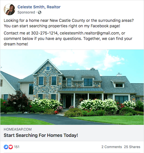 Facebook Ad For Real Estate Listing