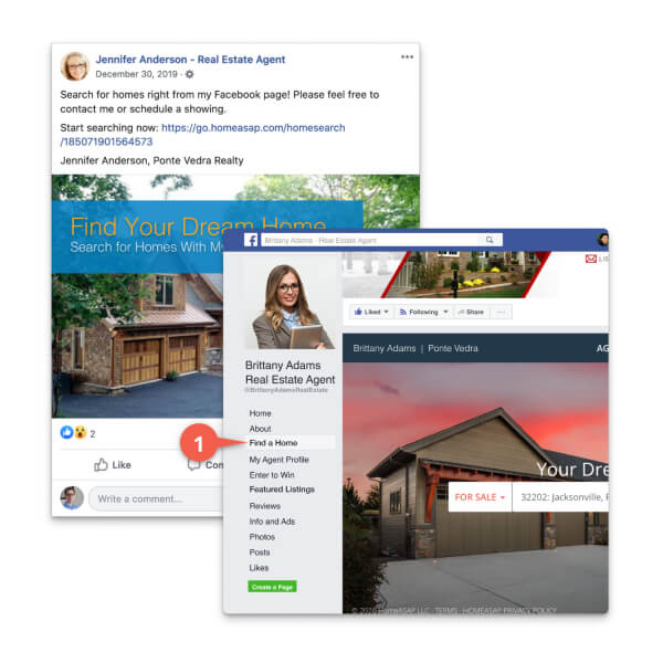 IDX Home Search Facebook Integration Features