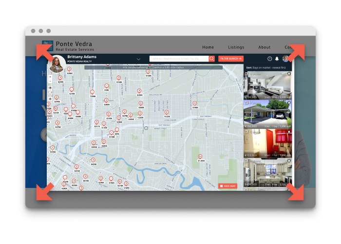 IDX Home Search results opened in new tab