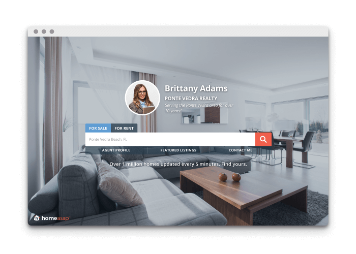 Embedded landing page for IDX Home Search for WordPress