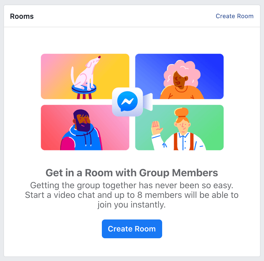 Rooms Feature for Facebook groups