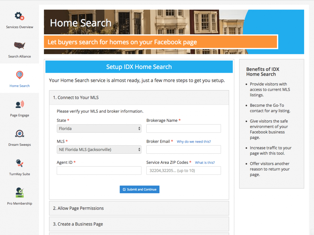 IDX Home Search MLS Set Up
