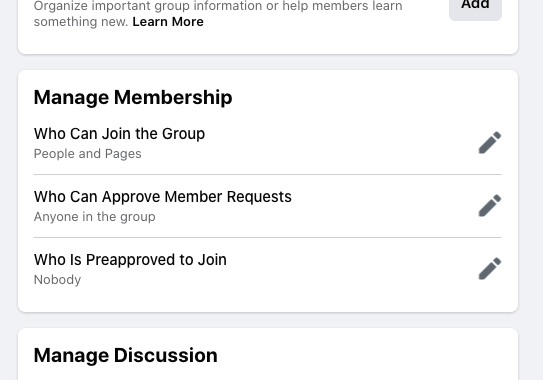 Manage membership for Facebook group for real estate