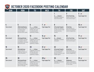 Facebook Posts Calendar For Real Estate Agents