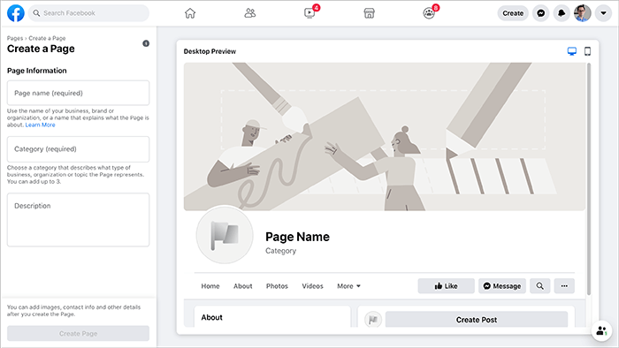 Creating New Facebook Page for a Real Estate Agent