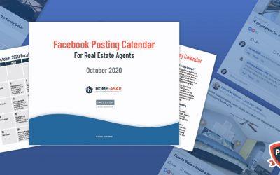 Facebook Posts Calendar For Real Estate Agents (October 2020)