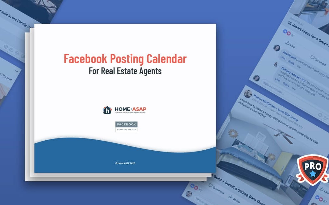 Real Estate Facebook Posts Calendar (Updated Feb. 2021)