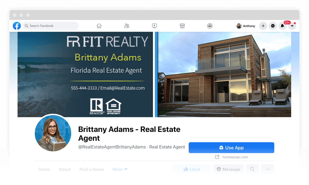 Real Estate Facebook Page Remodeled by Page Create