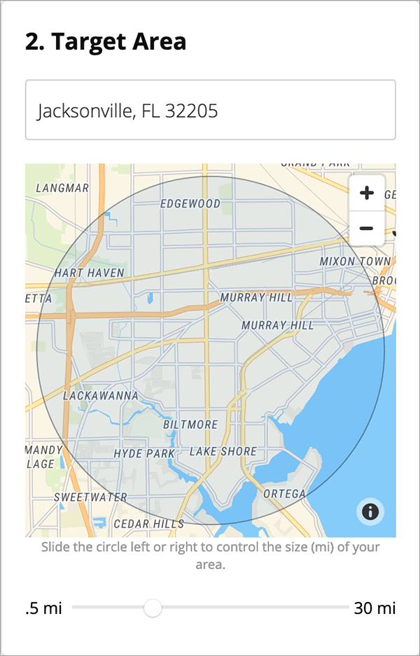 Location Targeting for Real Estate Ad