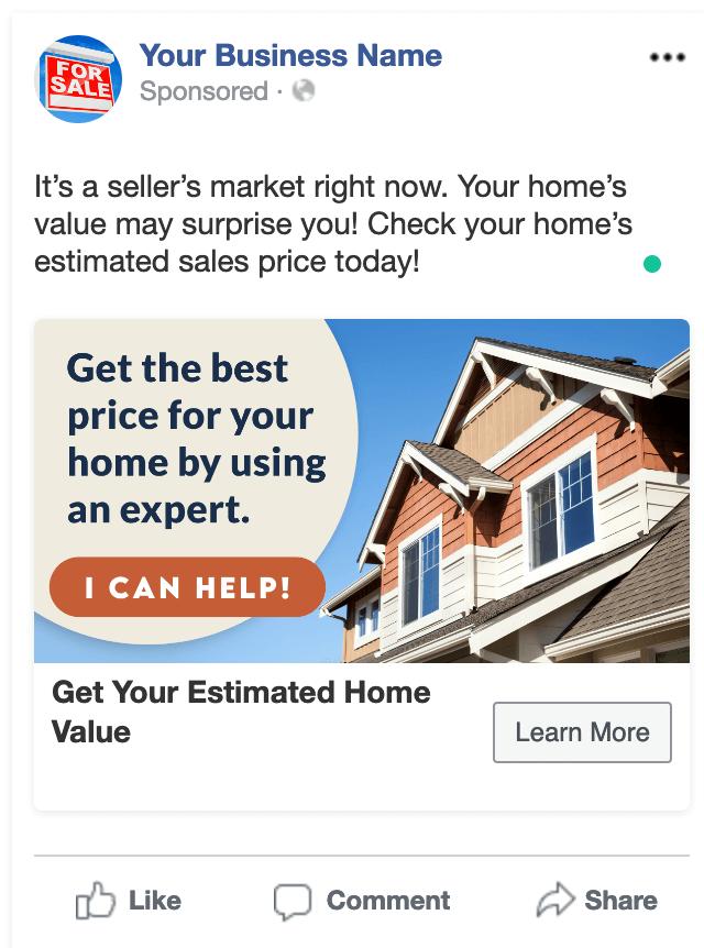 Seller Lead Ad Example