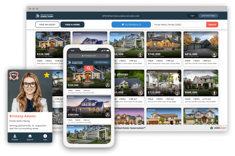 Illustration of Agent WordPress page with imported listings